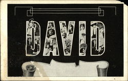 The Name David, With Ladies Appearing Within the Letters