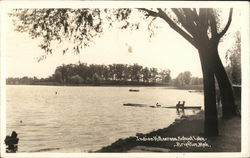 Indian Hill across School Lake, Brighton, Mich.