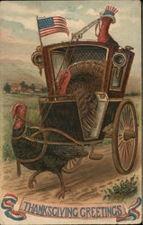 Patriotic Turkeys and a Carriage