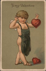 To my Valentine Cupid holding heart