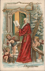 A Merry Christmas - Santa with Angels