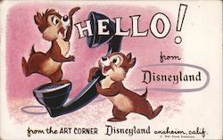 Rare Hello from Disneyland Art Corner Chip and Dale