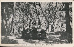 Jack London's Grave, near Sonoma, Glen Ellen, Cal.