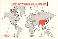 Map of World Communism by Charles Oldham