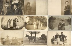 Lot of 76 Real Photo Postcards - People