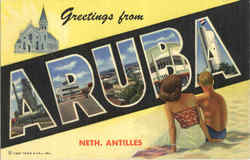 Greetings from Aruba Netherlands Antilles OC-H1385
