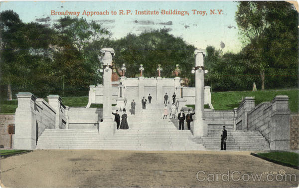 Broadway Approach To R.P. Institute Buildings Troy New York
