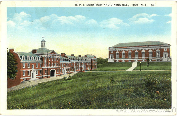 R.P.I Dormitory And Dining Hall Troy New York Dormitories