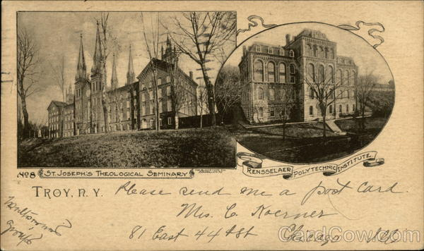 RPI College Troy NY http://www.cardcow.com/189609/st-josephs-theological-seminary-rpi-troy-new-york/
