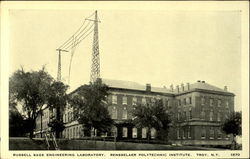 Russell Sage Engineering Laboratory Radio Antennas Postcard