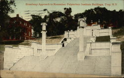 Broadway Approach to Rensselaer Polytechnic Institute Buildings Postcard