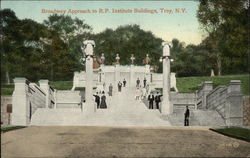 Broadway Approach to Rensselaer Polytechnic Institute Postcard