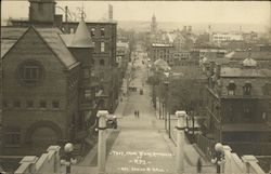 Troy, from Broadway approach of R.P.I. Postcard