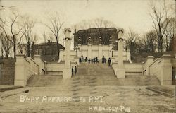 Broadway Approach to R.P.I. Postcard