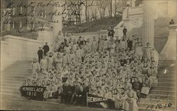 Rensselaer Class of 1910 on Approach Steps Postcard