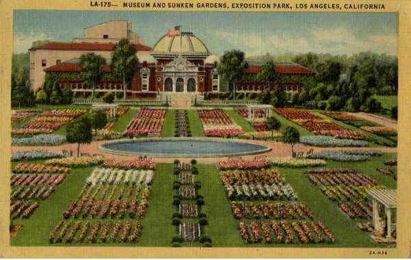 Museum and Sunken Gardens Exposition Park Los Angeles California
