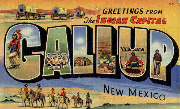 Greetings From Gallup New Mexico Cowboy Western