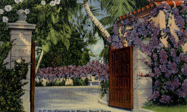 Entrance to Miami Beach Estate Florida