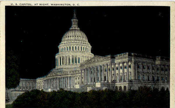 U.S Capitol at night Washington District of Columbia