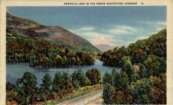 Emerald Lake in the Green Mountains Vermont