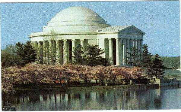 The Thomas Jefferson Memorial Cherry Blossom Time Washington District of Columbia