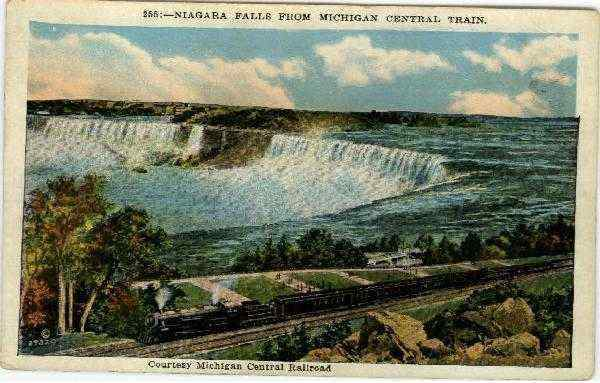 Niagra Falls From Michigan Central Train Niagara Falls New York