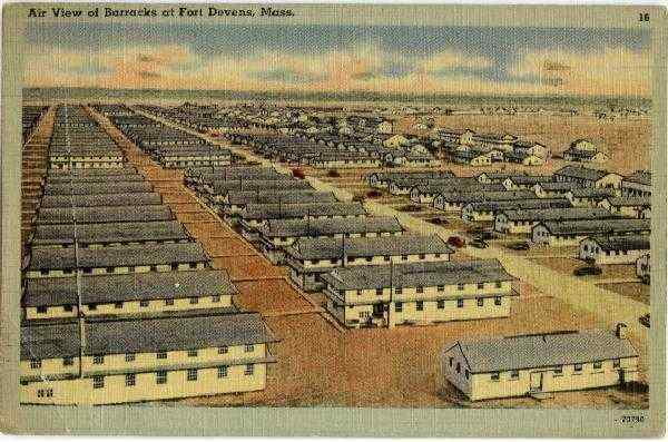 Air View of Army Barracks Fort Devens Massachusetts