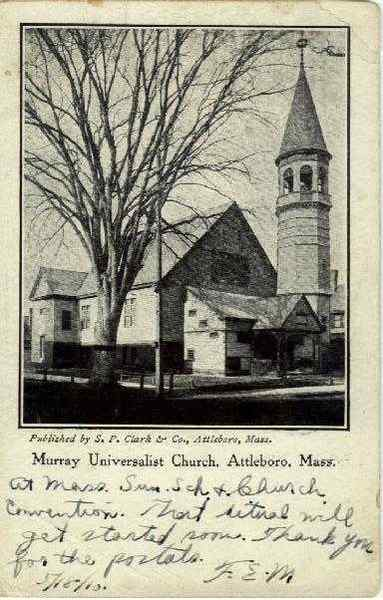 Murray Universalist Church Attleboro Massachusetts
