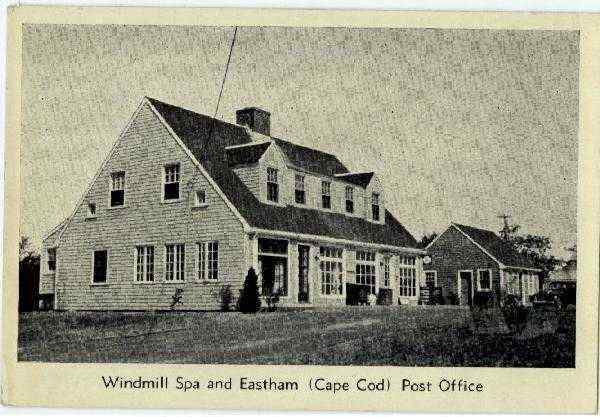 Windmill Spa and Eastham Post Office Cape Cod Massachusetts
