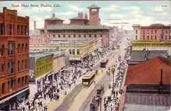 North Main St Postcard