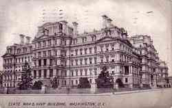 State War & Navy Building Postcard