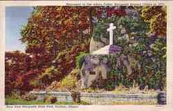 Father Marquette Monument Postcard