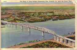 Huey P Long Bridge Postcard