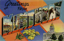 Greetings from Kentucky, Large Letter Postcard
