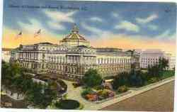 Library of Congress and Annex Postcard