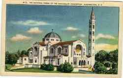 The National Shrine of the Immaculate Conception Postcard
