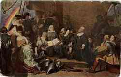 Embarcation of the Pilgrims from Delft Haven
