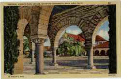 Memorial Church Thru Arcade Stanford University Postcard