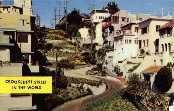 Crookedest Street in the World, Lombard Street San Francisco California
