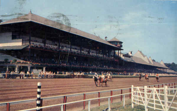 Club House And Grandstand, Saratoga Race Track Saratoga Springs New York