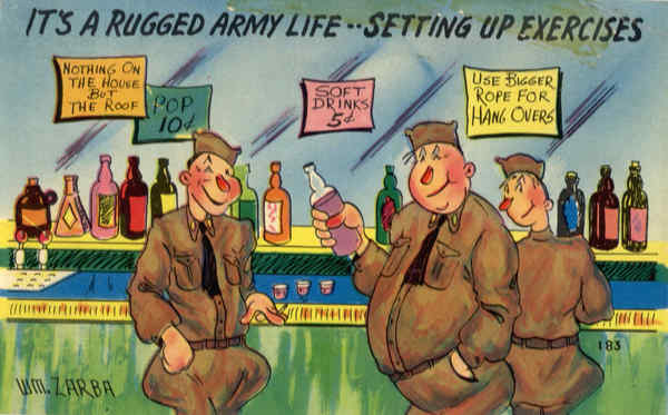 It's a Rugged Army Life..Setting Up Exercises Comic