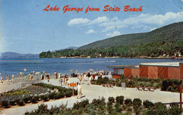 Lake George from State Beach New York