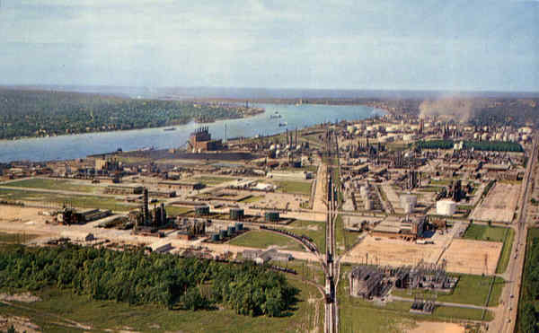 Aerial View of Canada's Famous Chemical Valley Sarnia Ontario