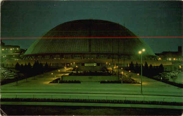 Civic Arena at Night Pittsburgh Pennsylvania