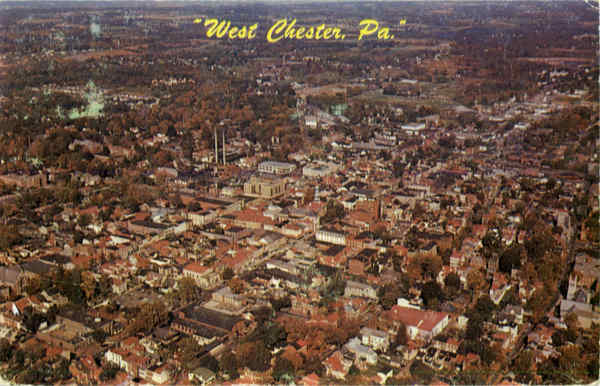 Aerial View of West Chester Pennsylvania