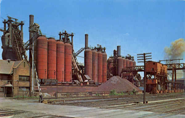 Blast Furnaces of the National Tube Company McKeesport Pennsylvania