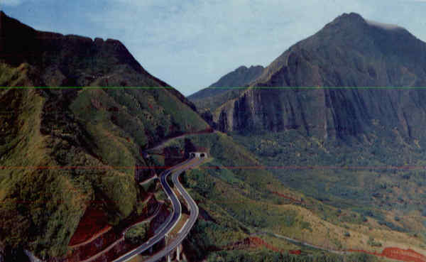 Entrance to Pall Tunnel Oahu Hawaii
