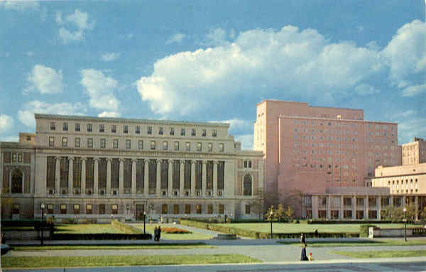 Butler Library, Ferris Booth Hall and New Hall Columbia University New York City