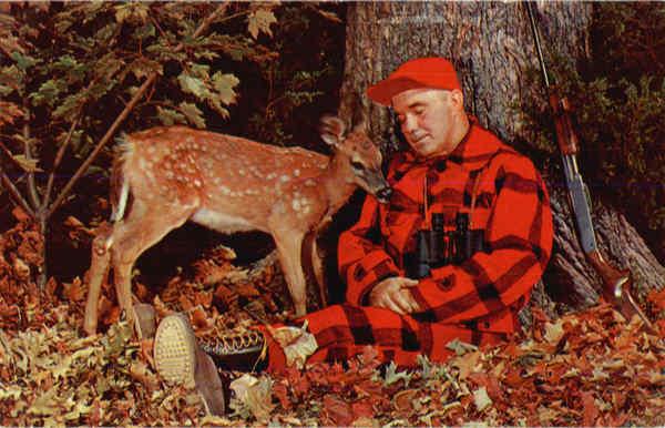 Sleepy Hunter w/baby deer Hunting