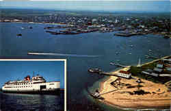 Air view of Brant point and Harbor